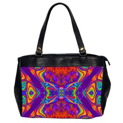Butterfly Abstract Oversize Office Handbag (2 Sides) by icarusismartdesigns