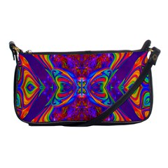 Butterfly Abstract Shoulder Clutch Bag by icarusismartdesigns