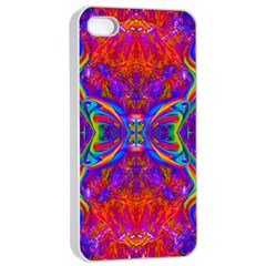 Butterfly Abstract Apple Iphone 4/4s Seamless Case (white) by icarusismartdesigns