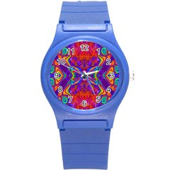 Butterfly Abstract Round Plastic Sport Watch (s) by icarusismartdesigns