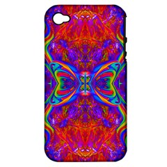 Butterfly Abstract Apple Iphone 4/4s Hardshell Case (pc+silicone) by icarusismartdesigns