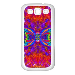 Butterfly Abstract Samsung Galaxy S3 Back Case (white) by icarusismartdesigns
