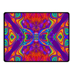Butterfly Abstract Double Sided Fleece Blanket (small) by icarusismartdesigns