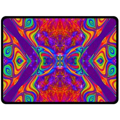 Butterfly Abstract Double Sided Fleece Blanket (large) by icarusismartdesigns