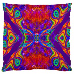 Butterfly Abstract Large Flano Cushion Case (one Side) by icarusismartdesigns