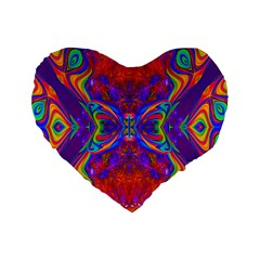 Butterfly Abstract Standard 16  Premium Flano Heart Shape Cushion  by icarusismartdesigns