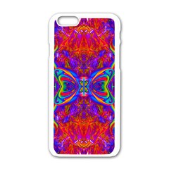 Butterfly Abstract Apple Iphone 6 White Enamel Case by icarusismartdesigns