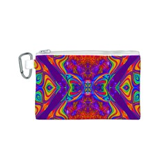 Butterfly Abstract Canvas Cosmetic Bag (small) by icarusismartdesigns