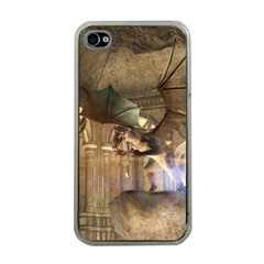 The Dragon Apple Iphone 4 Case (clear) by FantasyWorld7