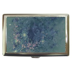 Vintage Floral In Blue Colors Cigarette Money Cases by FantasyWorld7