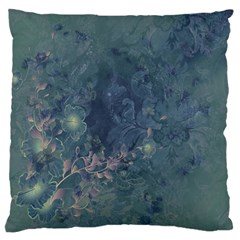 Vintage Floral In Blue Colors Large Cushion Cases (two Sides)  by FantasyWorld7
