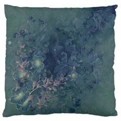 Vintage Floral In Blue Colors Standard Flano Cushion Cases (two Sides)  by FantasyWorld7