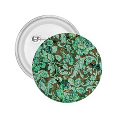 Beautiful Floral Pattern In Green 2 25  Buttons by FantasyWorld7