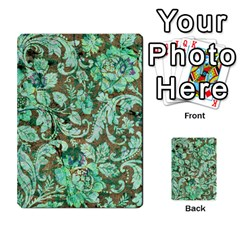 Beautiful Floral Pattern In Green Multi Purpose Cards (rectangle)