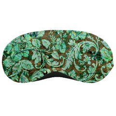 Beautiful Floral Pattern In Green Sleeping Masks by FantasyWorld7