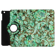 Beautiful Floral Pattern In Green Apple Ipad Mini Flip 360 Case by FantasyWorld7
