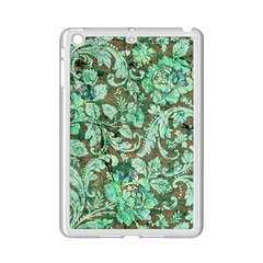 Beautiful Floral Pattern In Green Ipad Mini 2 Enamel Coated Cases by FantasyWorld7