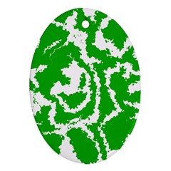 Migraine Green Ornament (oval)  by MoreColorsinLife