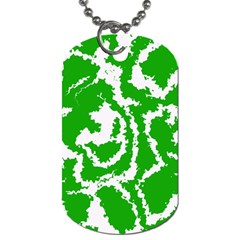 Migraine Green Dog Tag (two Sides) by MoreColorsinLife