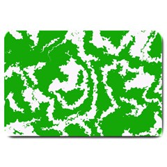 Migraine Green Large Doormat  by MoreColorsinLife