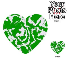 Migraine Green Multi Purpose Cards (heart)  by MoreColorsinLife