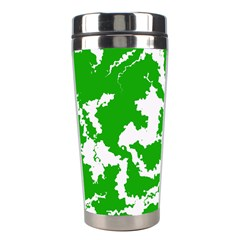 Migraine Green Stainless Steel Travel Tumblers by MoreColorsinLife
