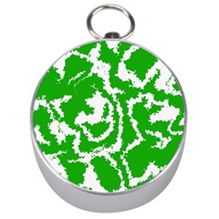 Migraine Green Silver Compasses by MoreColorsinLife