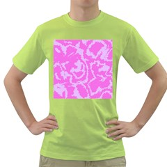 Migraine Pink Green T Shirt by MoreColorsinLife