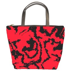 Migraine Red Bucket Bags by MoreColorsinLife