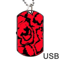 Migraine Red Dog Tag Usb Flash (two Sides)  by MoreColorsinLife