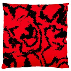 Migraine Red Large Cushion Cases (one Side)  by MoreColorsinLife