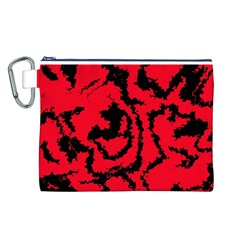 Migraine Red Canvas Cosmetic Bag (l) by MoreColorsinLife
