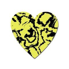 Migraine Yellow Heart Magnet by MoreColorsinLife