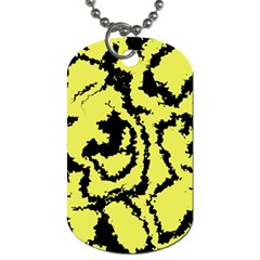 Migraine Yellow Dog Tag (two Sides) by MoreColorsinLife