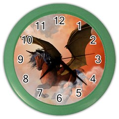The Dark Unicorn Color Wall Clocks by FantasyWorld7