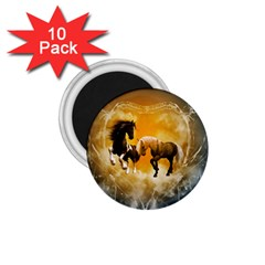 Wonderful Horses 1.75  Magnets (10 pack)  by FantasyWorld7