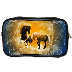 Wonderful Horses Toiletries Bags 2 Side by FantasyWorld7