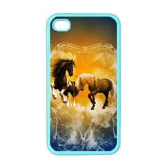 Wonderful Horses Apple Iphone 4 Case (color) by FantasyWorld7