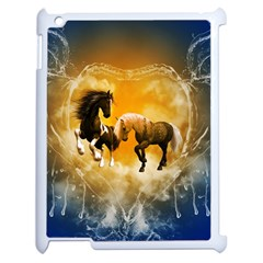 Wonderful Horses Apple Ipad 2 Case (white) by FantasyWorld7