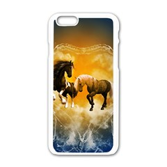 Wonderful Horses Apple Iphone 6 White Enamel Case by FantasyWorld7