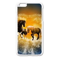 Wonderful Horses Apple Iphone 6 Plus Enamel White Case by FantasyWorld7