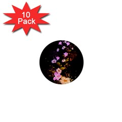 Awesome Flowers With Fire And Flame 1  Mini Magnet (10 pack)  by FantasyWorld7