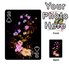 Awesome Flowers With Fire And Flame Playing Cards 54 Designs