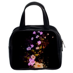 Awesome Flowers With Fire And Flame Classic Handbags (2 Sides) by FantasyWorld7