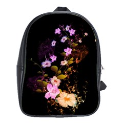 Awesome Flowers With Fire And Flame School Bags(large)  by FantasyWorld7