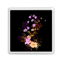 Awesome Flowers With Fire And Flame Memory Card Reader (Square)  by FantasyWorld7