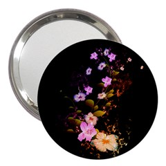 Awesome Flowers With Fire And Flame 3  Handbag Mirrors by FantasyWorld7