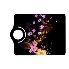 Awesome Flowers With Fire And Flame Kindle Fire Hd (2013) Flip 360 Case by FantasyWorld7