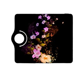 Awesome Flowers With Fire And Flame Kindle Fire Hdx 8 9  Flip 360 Case by FantasyWorld7