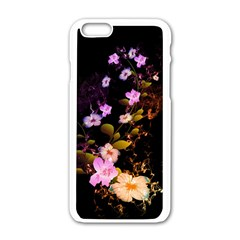 Awesome Flowers With Fire And Flame Apple Iphone 6 White Enamel Case by FantasyWorld7